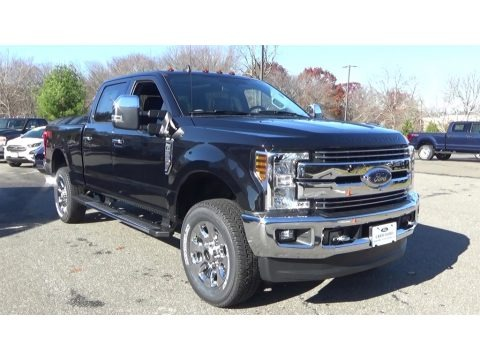Agate Black 2019 Ford F350 Super Duty Lariat Crew Cab 4x4