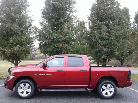 Deep Cherry Red Crystal Pearl 2012 Dodge Ram 1500 Express Crew Cab 4x4