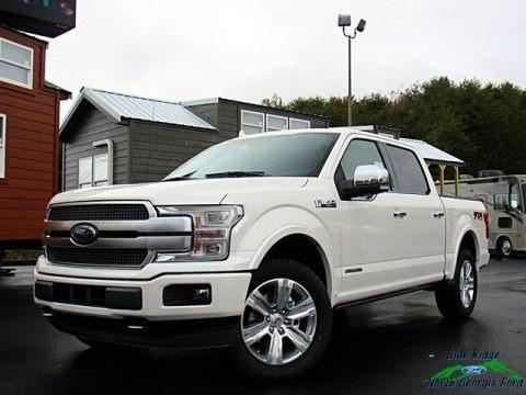 White Platinum 2018 Ford F150 Platinum SuperCrew 4x4