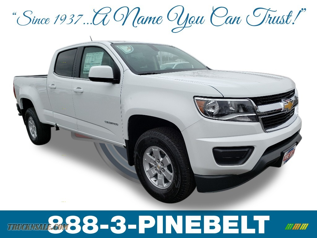 2019 Colorado WT Crew Cab - Summit White / Jet Black/Dark Ash photo #1