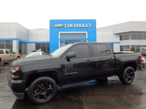 Black 2018 Chevrolet Silverado 1500 Custom Crew Cab 4x4