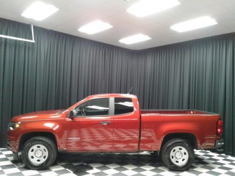 Red Rock Metallic 2016 Chevrolet Colorado WT Extended Cab