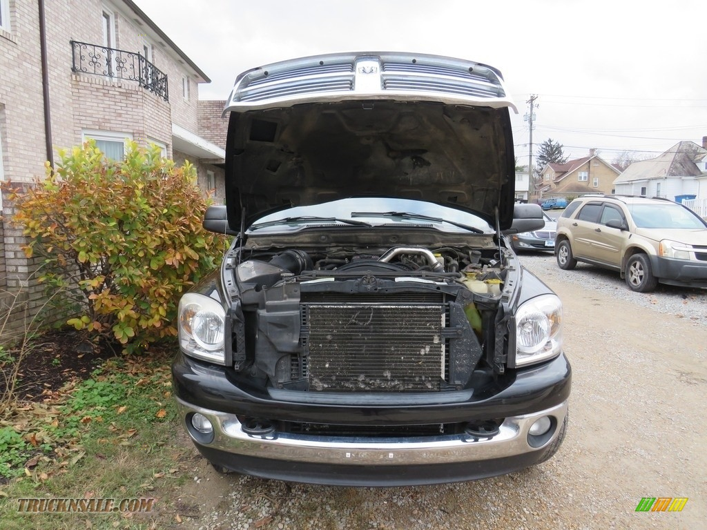 2008 Ram 3500 SLT Quad Cab 4x4 Dually - Brilliant Black Crystal Pearl / Medium Slate Gray photo #6