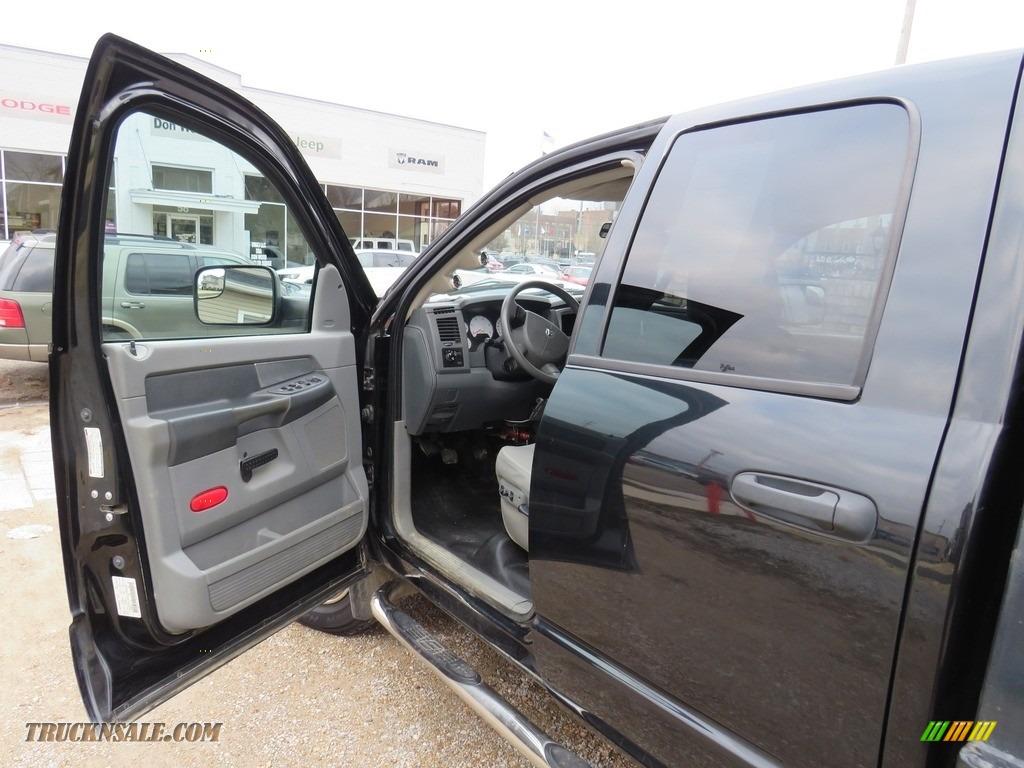 2008 Ram 3500 SLT Quad Cab 4x4 Dually - Brilliant Black Crystal Pearl / Medium Slate Gray photo #16