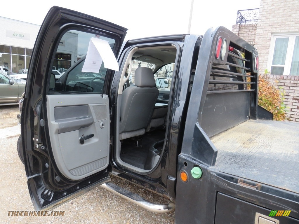 2008 Ram 3500 SLT Quad Cab 4x4 Dually - Brilliant Black Crystal Pearl / Medium Slate Gray photo #21