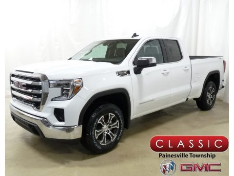 Summit White 2019 GMC Sierra 1500 SLE Double Cab 4WD