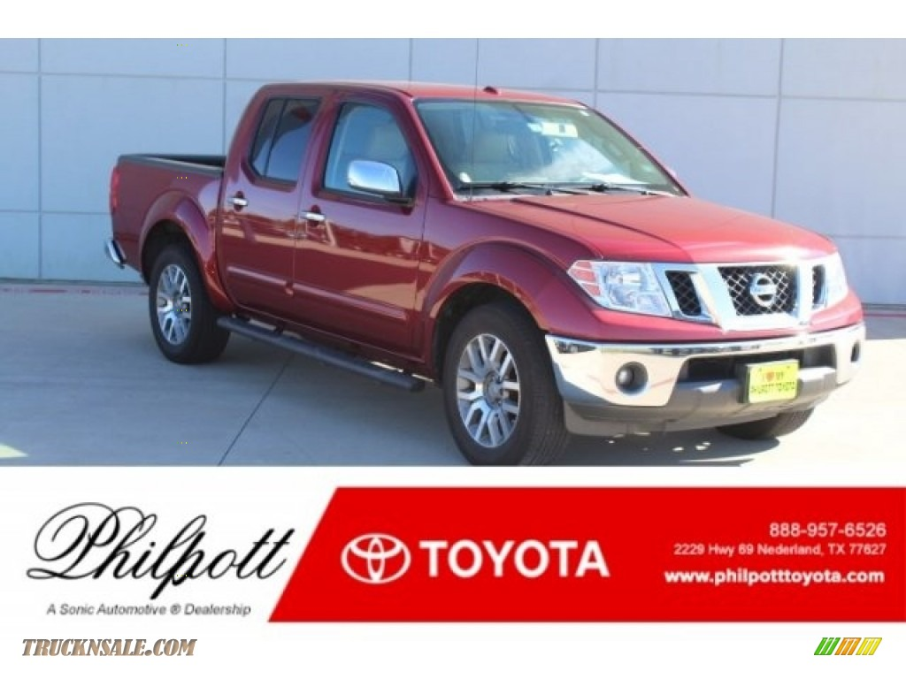 2013 Frontier SL Crew Cab - Cayenne Red / Beige photo #1