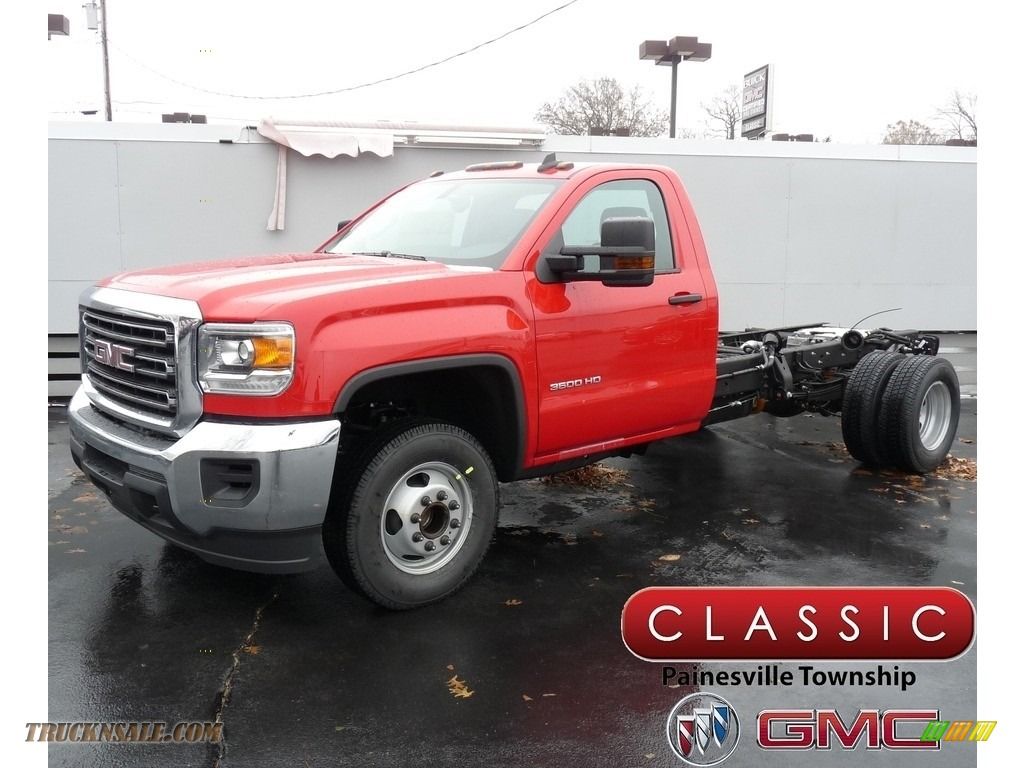 2019 Sierra 3500HD Regular Cab Chassis - Red / Dark Ash/Jet Black photo #1