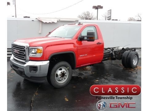 Red 2019 GMC Sierra 3500HD Regular Cab Chassis