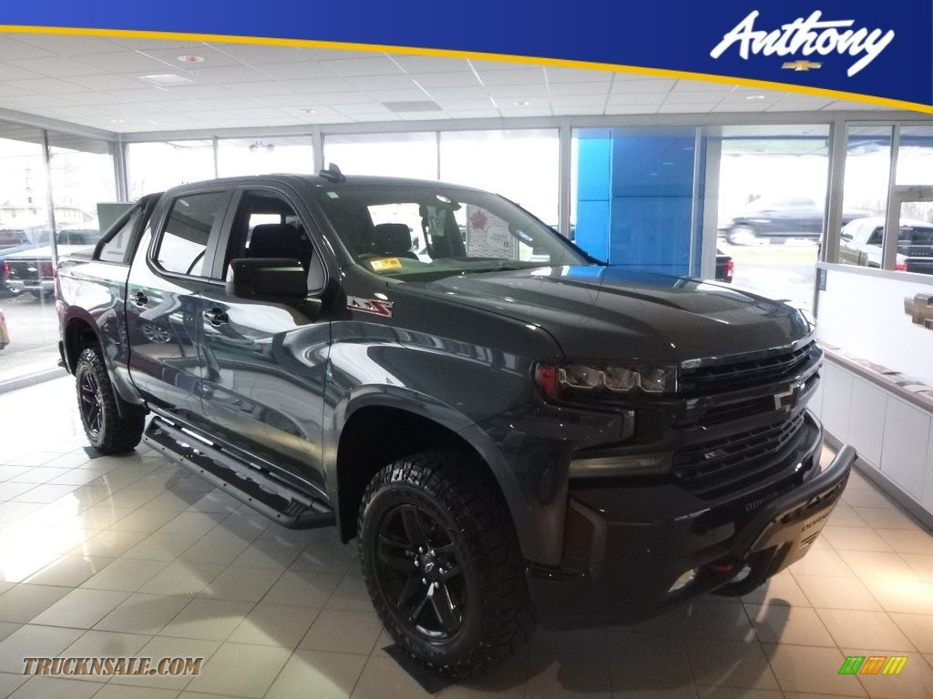 2019 Silverado 1500 LT Z71 Trail Boss Crew Cab 4WD - Shadow Gray Metallic / Jet Black photo #1