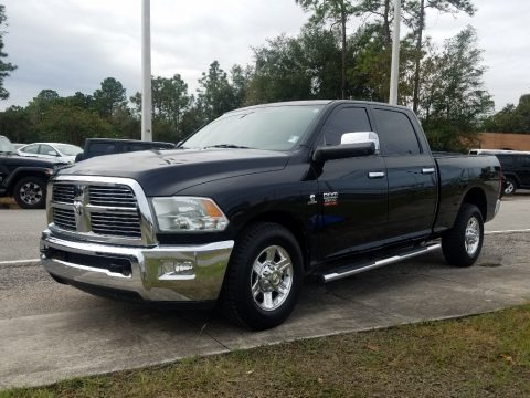 Brilliant Black Crystal Pearl 2011 Dodge Ram 2500 HD Laramie Crew Cab
