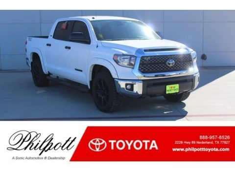 Super White 2019 Toyota Tundra TSS Off Road CrewMax