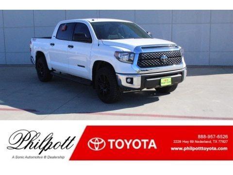 Super White 2019 Toyota Tundra TSS Off Road CrewMax