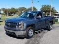 Chevrolet Silverado 1500 WT Regular Cab Blue Granite Metallic photo #1