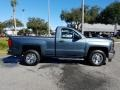 Chevrolet Silverado 1500 WT Regular Cab Blue Granite Metallic photo #6