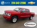 Dodge Dakota Big Horn Crew Cab 4x4 Inferno Red Crystal Pearl photo #1