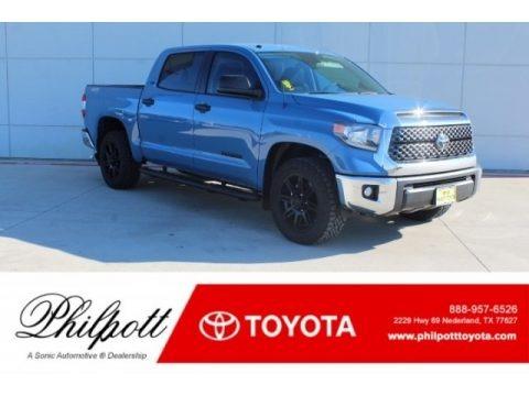 Cavalry Blue 2019 Toyota Tundra TSS Off Road CrewMax