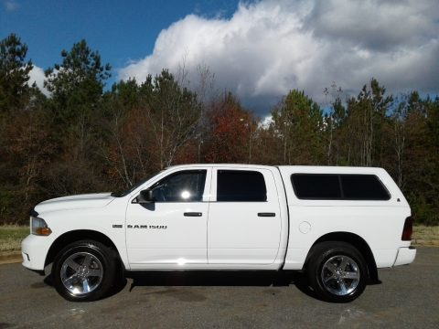 Bright White 2012 Dodge Ram 1500 Express Crew Cab 4x4