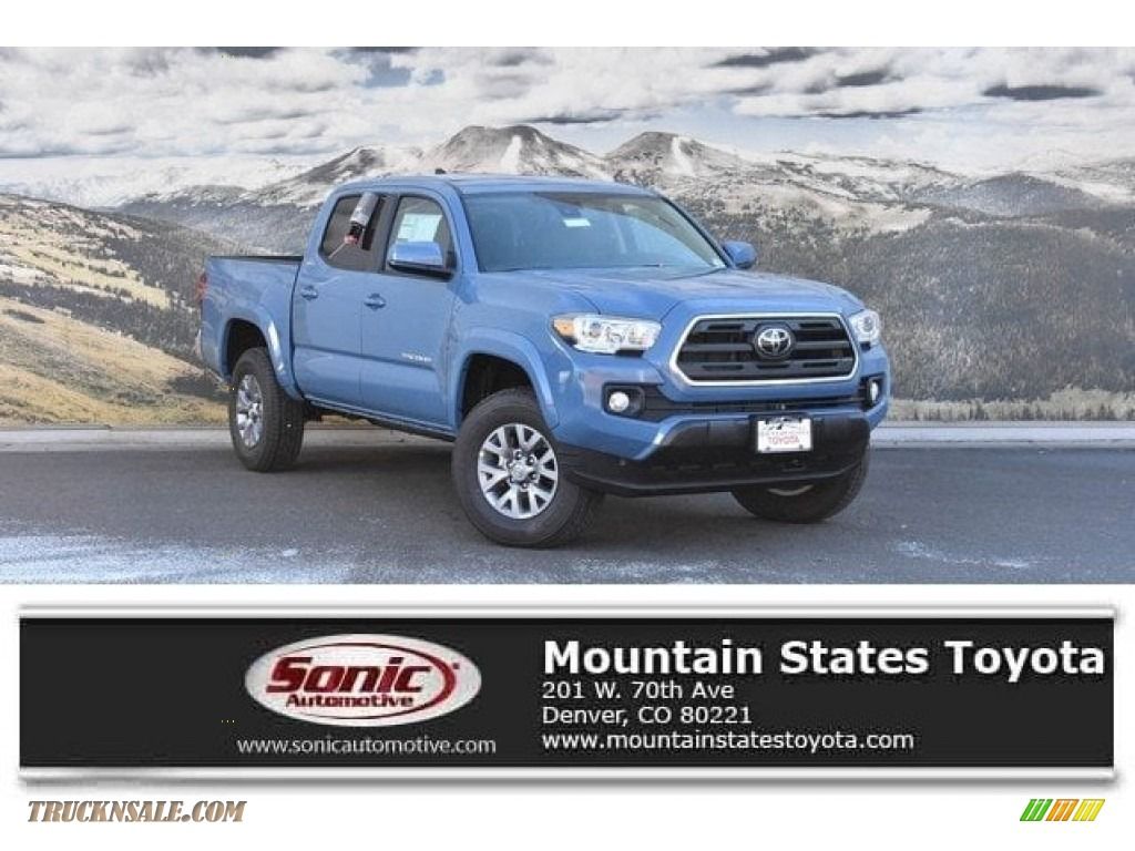 2019 Tacoma SR5 Double Cab 4x4 - Cavalry Blue / Cement Gray photo #1