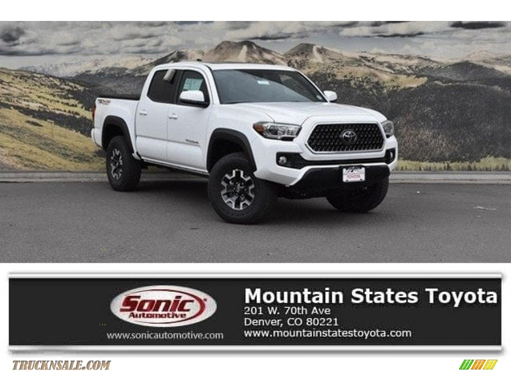 2019 Tacoma TRD Off-Road Double Cab 4x4 - Super White / Cement Gray photo #1
