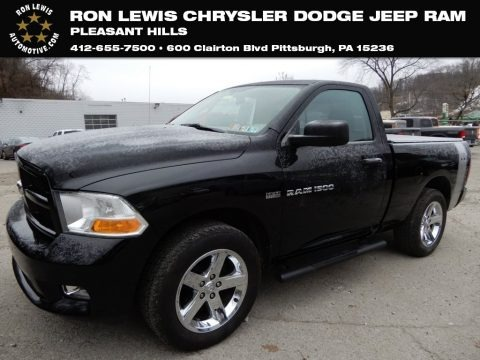 Black 2012 Dodge Ram 1500 ST Regular Cab 4x4