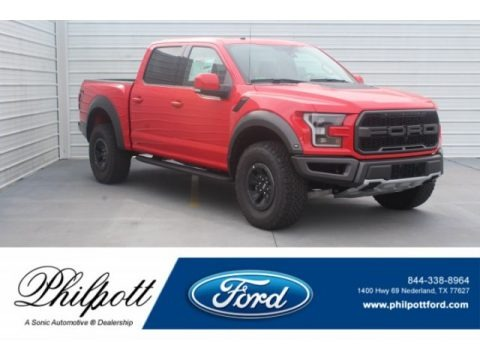 Race Red 2018 Ford F150 SVT Raptor SuperCrew 4x4