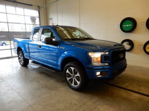 Velocity Blue 2019 Ford F150 STX SuperCab 4x4
