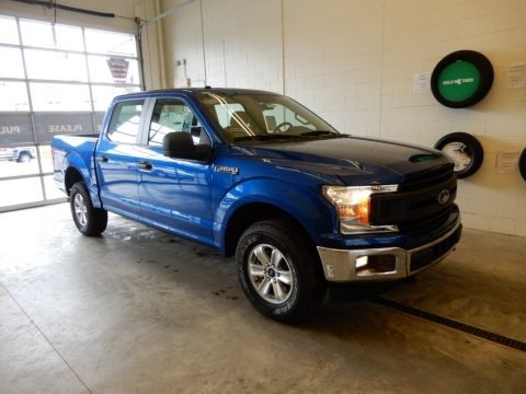 Lightning Blue 2018 Ford F150 XL SuperCrew 4x4