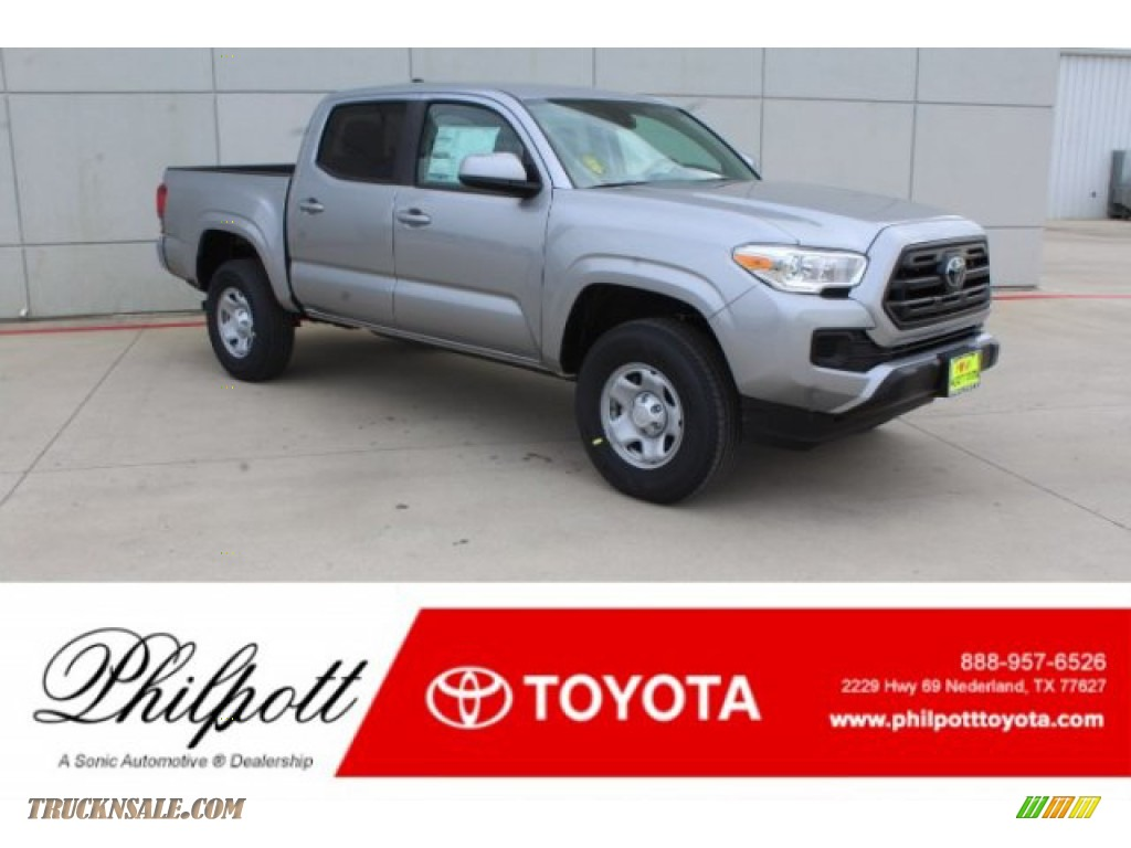 Silver Sky Metallic / Cement Gray Toyota Tacoma SR Double Cab