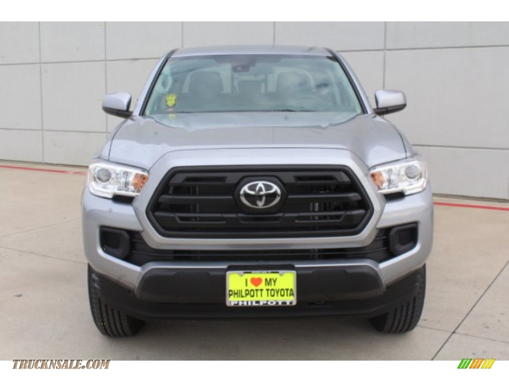 2019 Tacoma SR Double Cab - Silver Sky Metallic / Cement Gray photo #3