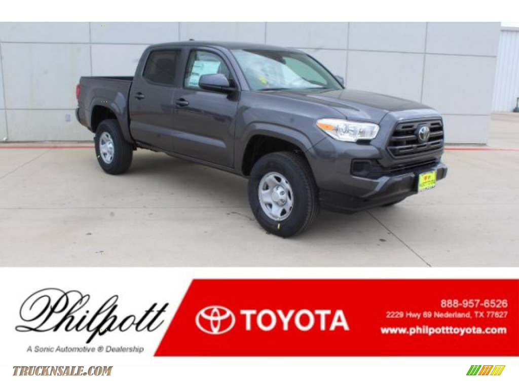 2019 Tacoma SR Double Cab - Magnetic Gray Metallic / Cement Gray photo #1