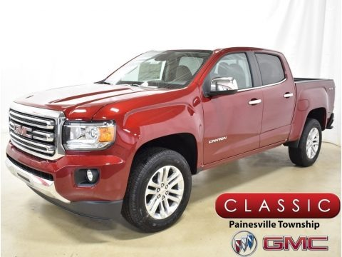 Red Quartz Tintcoat 2019 GMC Canyon SLT Crew Cab 4WD