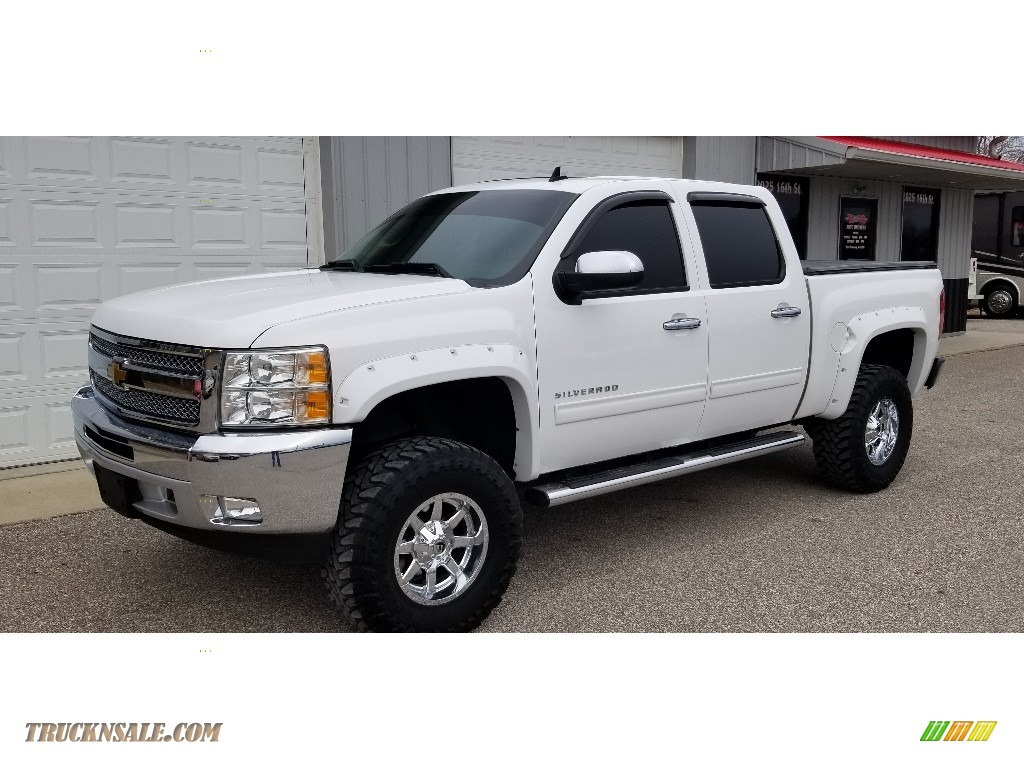 2013 Silverado 1500 LT Crew Cab 4x4 - Summit White / Ebony photo #1