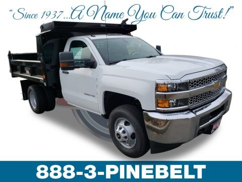 Summit White 2019 Chevrolet Silverado 3500HD Work Truck Regular Cab 4x4 Dump Truck