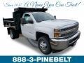 Chevrolet Silverado 3500HD Work Truck Regular Cab 4x4 Dump Truck Summit White photo #1