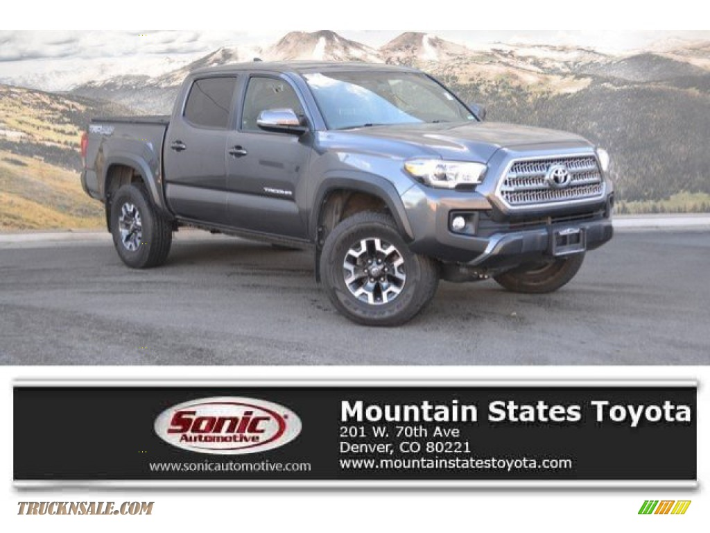 2017 Tacoma TRD Off Road Double Cab 4x4 - Magnetic Gray Metallic / TRD Graphite photo #1