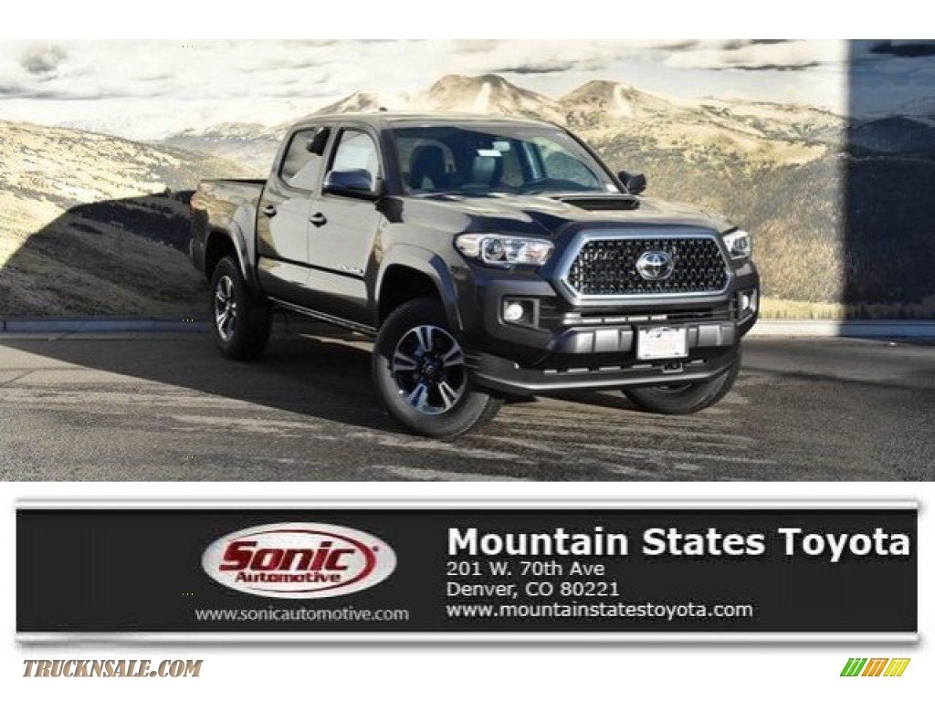 2019 Tacoma TRD Sport Double Cab 4x4 - Magnetic Gray Metallic / Cement Gray photo #1