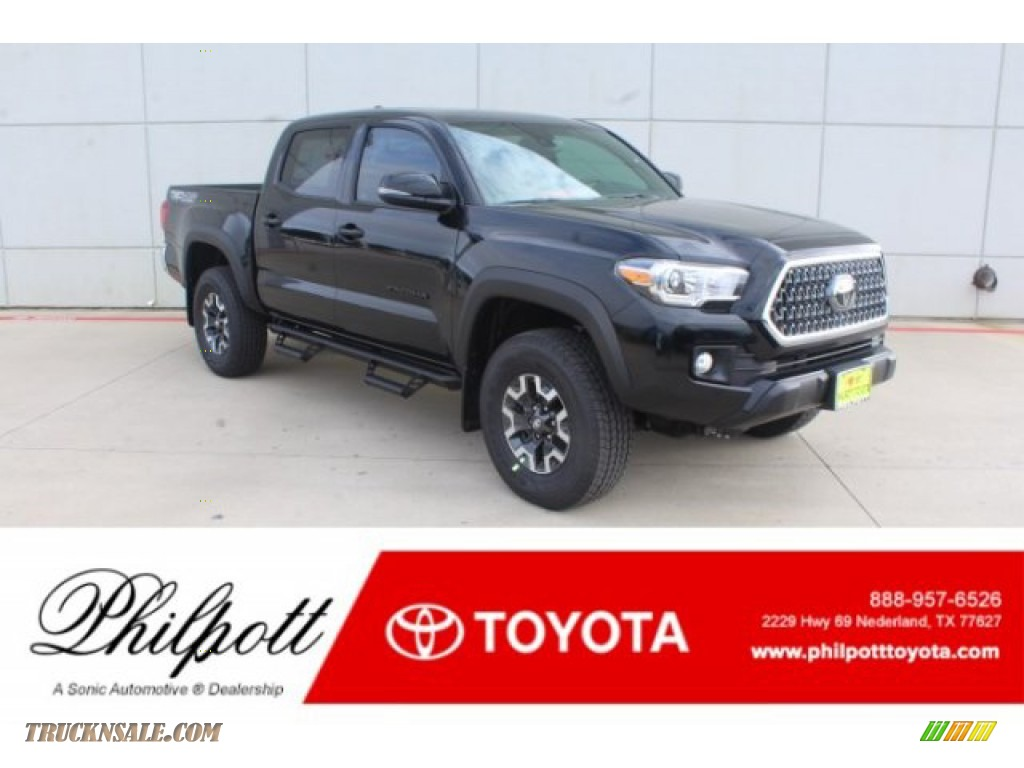 2019 Tacoma TRD Off-Road Double Cab 4x4 - Midnight Black Metallic / Cement Gray photo #1