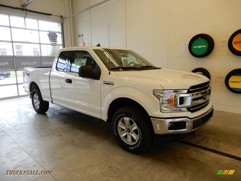 2019 F150 XLT SuperCab 4x4 - Oxford White / Earth Gray photo #1
