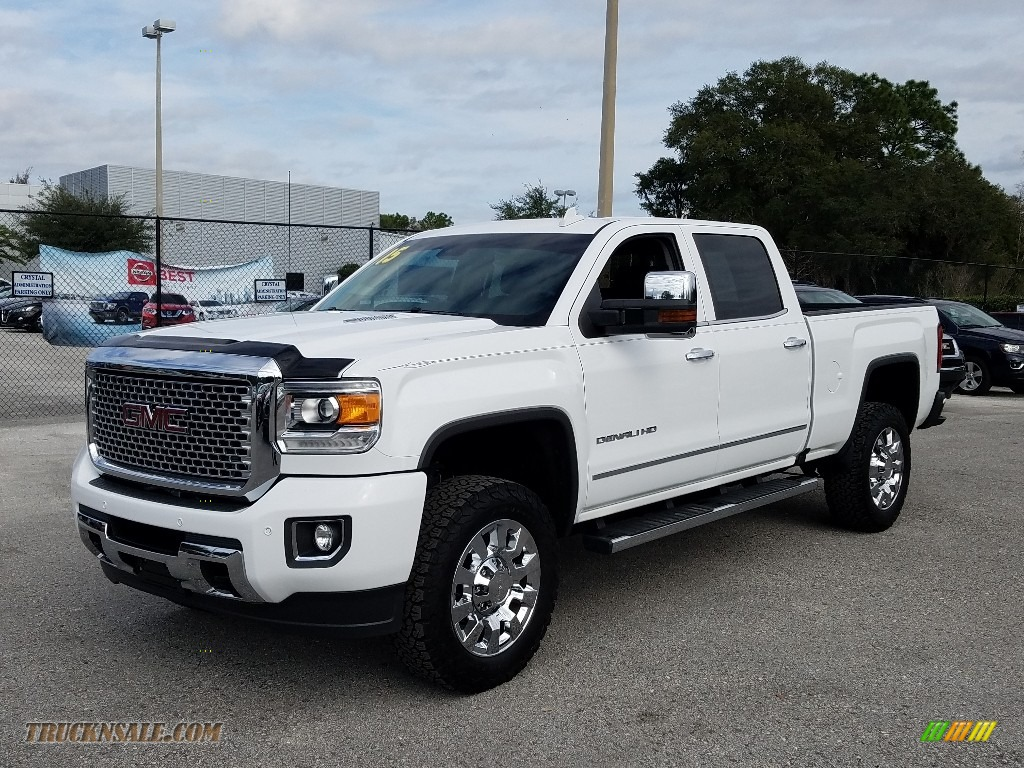 2015 Sierra 2500HD Denali Crew Cab 4x4 - Summit White / Jet Black photo #1