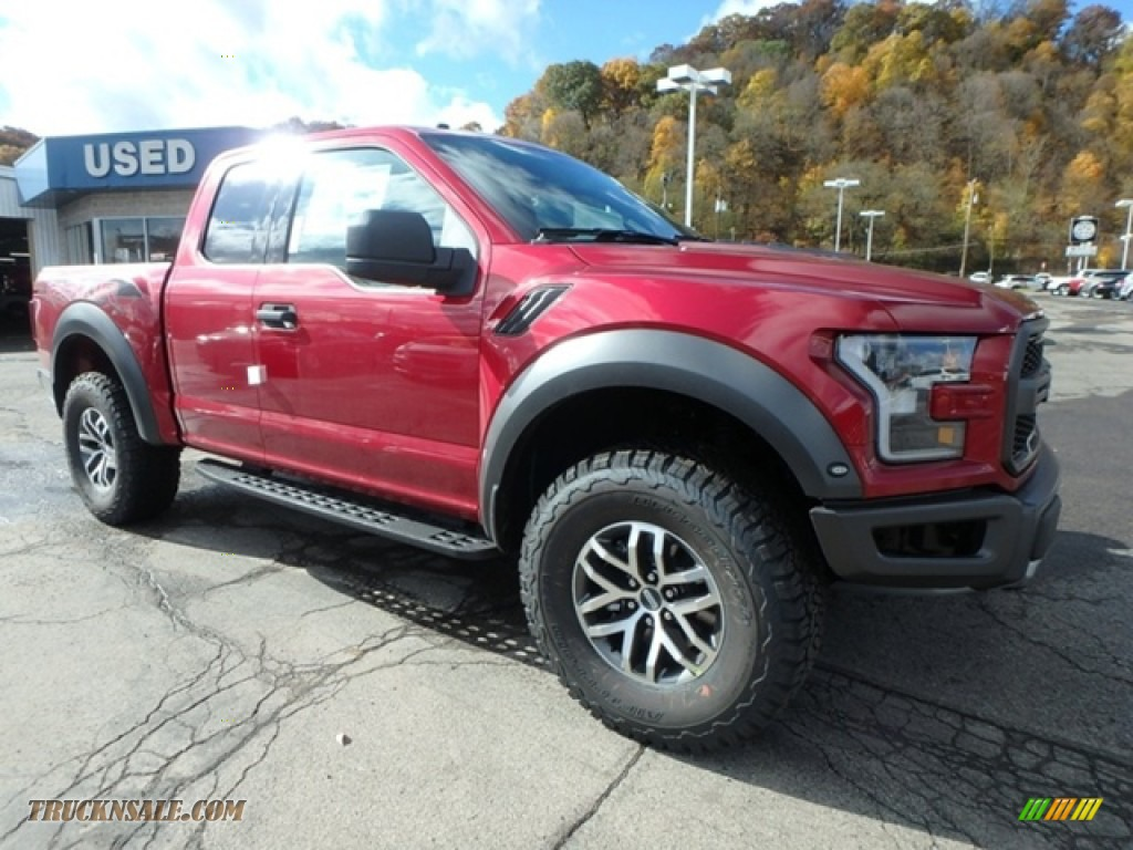 2018 F150 SVT Raptor SuperCab 4x4 - Ruby Red / Raptor Black photo #8