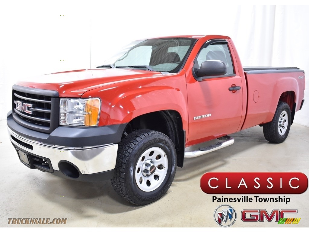 2012 Sierra 1500 Regular Cab 4x4 - Fire Red / Dark Titanium photo #1