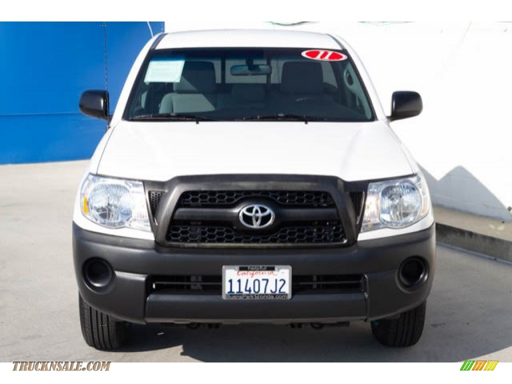 2011 Tacoma Regular Cab - Super White / Graphite Gray photo #5