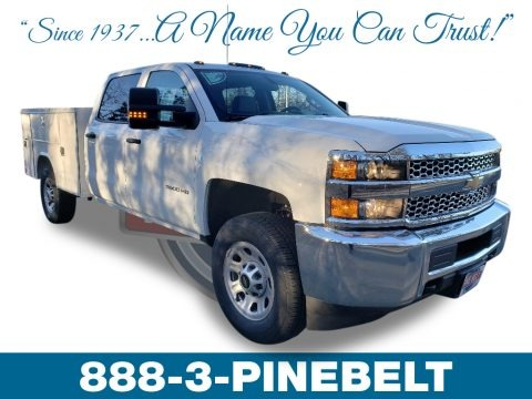 Summit White 2019 Chevrolet Silverado 3500HD Work Truck Crew Cab 4x4 Chassis