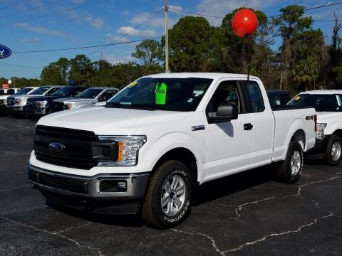 Oxford White 2019 Ford F150 XL SuperCab 4x4