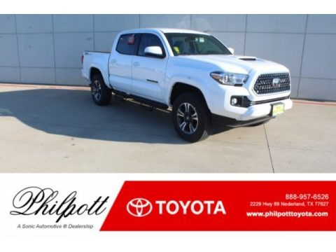 Super White 2019 Toyota Tacoma TRD Sport Double Cab