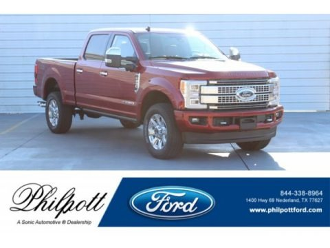 Ruby Red 2019 Ford F250 Super Duty Platinum Crew Cab 4x4