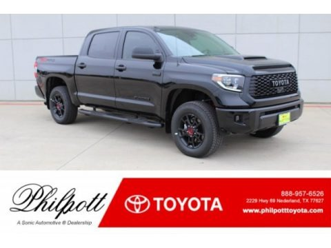 Midnight Black Metallic 2019 Toyota Tundra TRD Pro CrewMax 4x4
