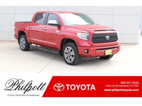 Barcelona Red Metallic 2019 Toyota Tundra Platinum CrewMax 4x4
