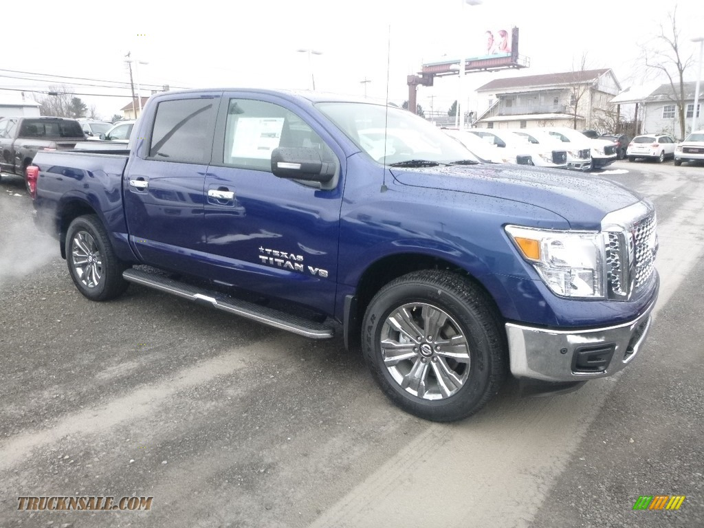 2019 Titan SV Crew Cab 4x4 - Deep Blue Pearl Metallic / Black photo #1